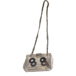 Handbags - New Cassette clutch in clear